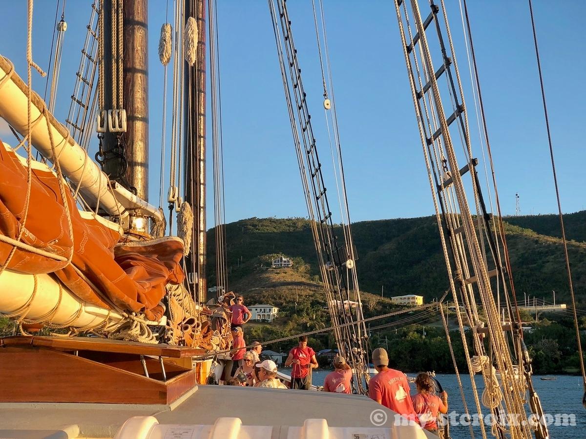 Crew aboard Schooner Roseway