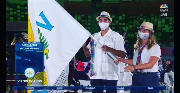 TEam ISV flag bearers Tokyo Olympics